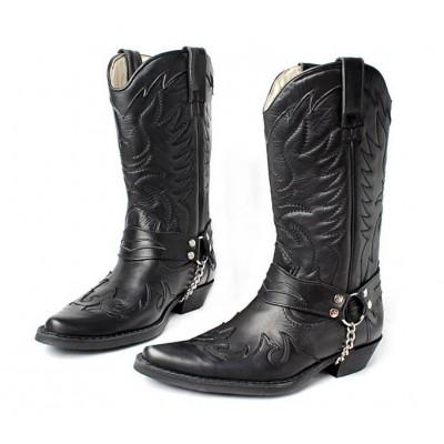 Мужские ковбойские сапоги Texas 501002 black