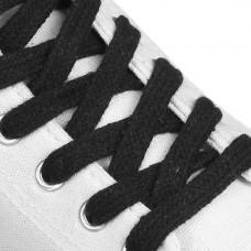 Шнурки плоские 10 мм 180 см цвет черный (пара)