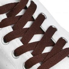 Шнурки плоские 9 мм 120 см цвет коричневый (пара)
