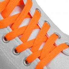 Шнурки плоские 7 мм 120 см цвет оранжевый (пара)