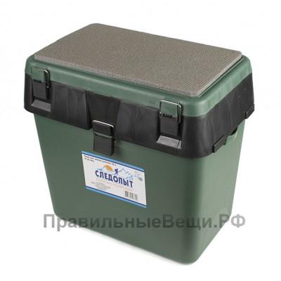 Ящик для зимней рыбалки Следопыт 30л, зеленый пластик